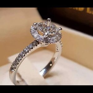 White Topaz 925 Silver Ring